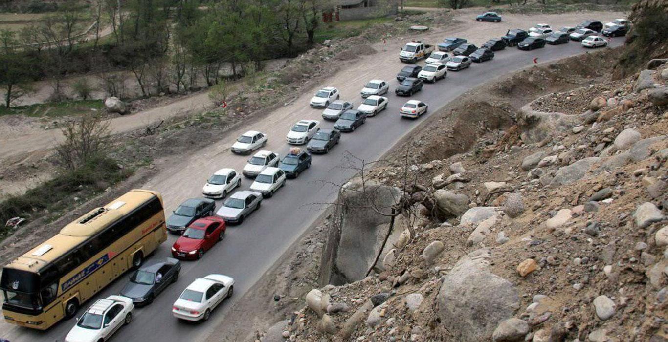 وضعیت ترافیکی جاده چالوس اعلام شد