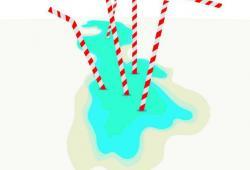 پوستر دریاچه ارومیه/ طرحی از  حسین اکبری