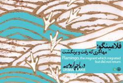 پوستر دریاچه ارومیه/ طرحی از مهدیه سعیدی