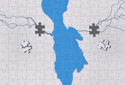 پوستر دریاچه ارومیه/ طرحی از مرتضی مقدم