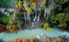 آبشار بیشه؛ آبشاری چشم نواز در دل جنگل های بلوط